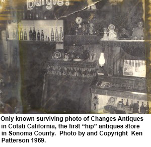 Changes Antiques Cotati California 1969