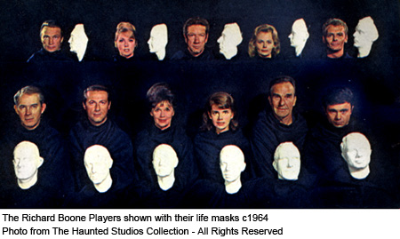 The Richard Boone Players with their Life Masks