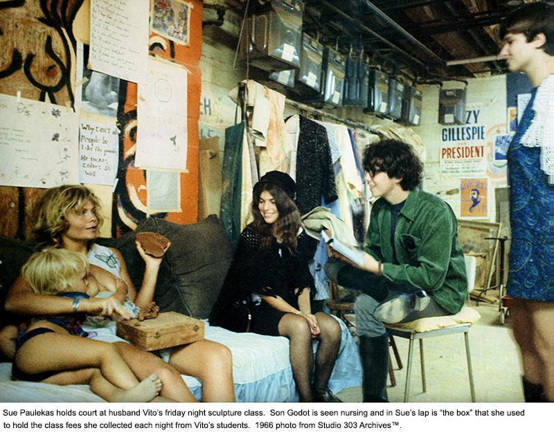 Vito's sculpture class 1966 - Sue and Godot