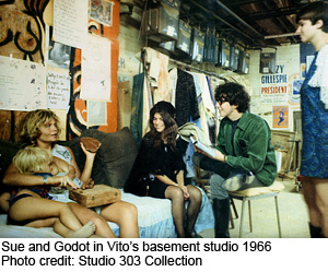 Vito's sculpture class 1966 - Sue and Godot