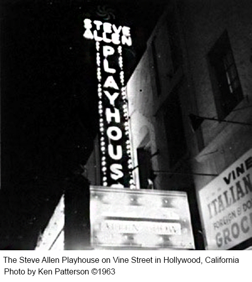 Steve Allen Playhouse photo by Ken Patterson Copyright 1963