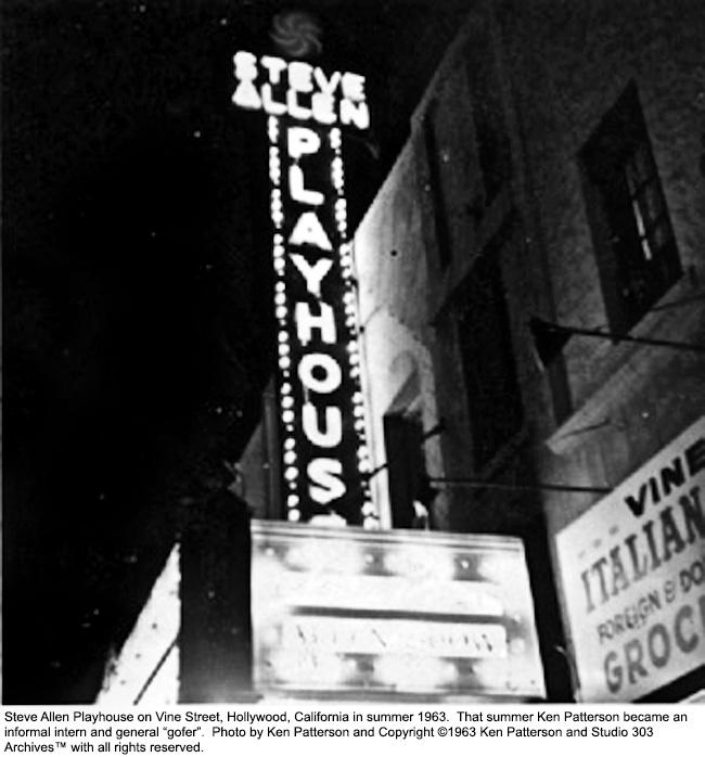 Steve Allen Playhouse in June 1963