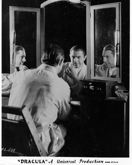 Bela Lugosi at Makeup Bench as Dracula Photo