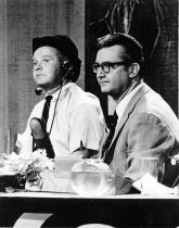 Steve Allen with stage manager Johnny Wilson - The Steve Allen Show
