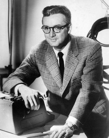 Steve Allen on set publicity photo - The Steve Allen Show