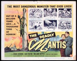 The Deadly Mantis Lobby Card - Title Card