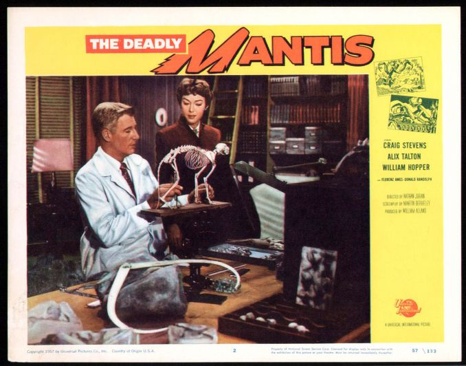 The Deadly Mantis Lobby Card #2