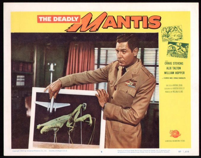 The Deadly Mantis Lobby Card #6