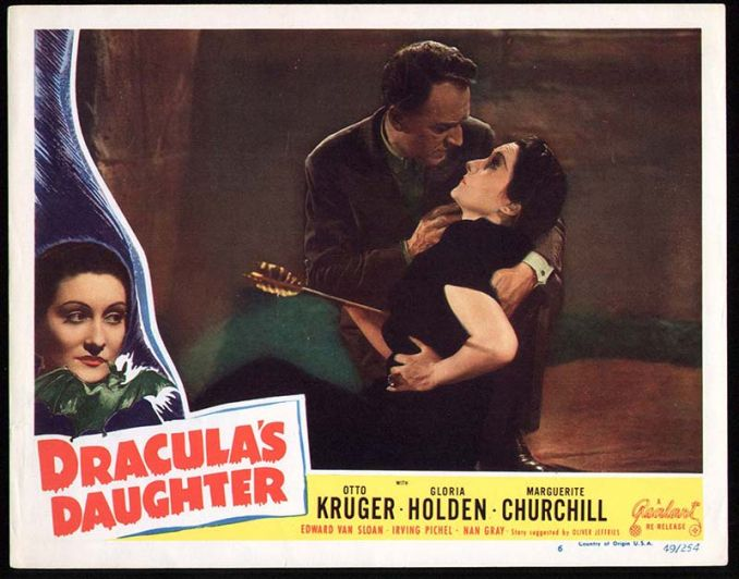 Dracula's Daughter Lobby Card Reel Art #6