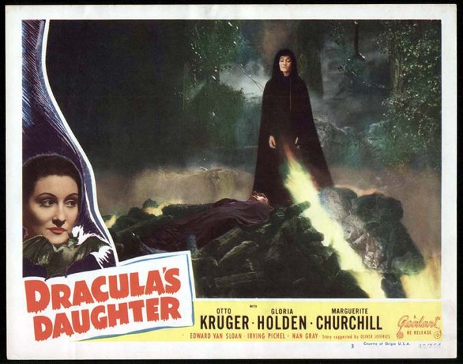 Dracula's Daughter Lobby Card Reel Art #3