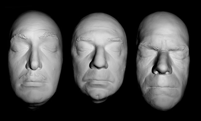 Price, Lugosi, Karloff Life Mask Set Cast in Resin